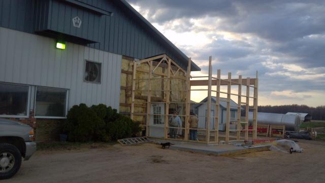 milk house construction