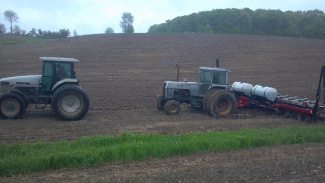 white 2-155 stuck planting corn
