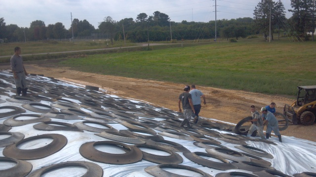 covering silage pile