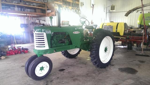 oliver 660 diesel restored