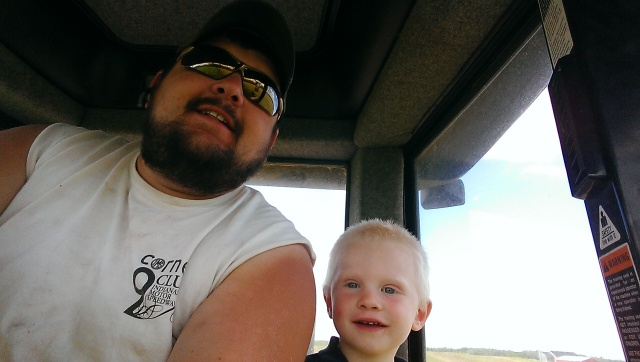 cute farm kids in tractor