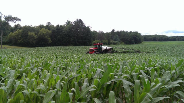 side dressing corn with apache sprayer