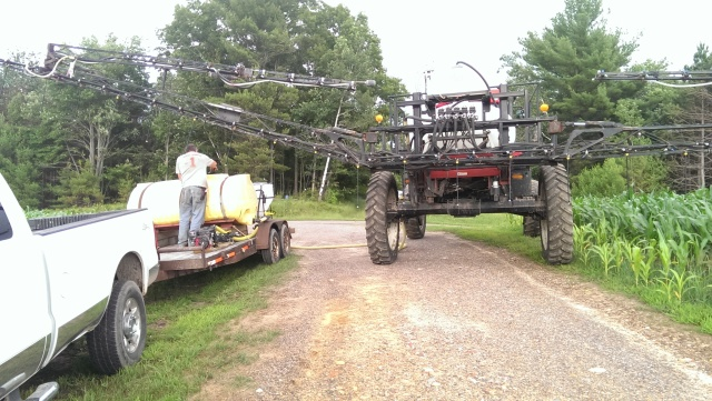 Tending an apache sprayer